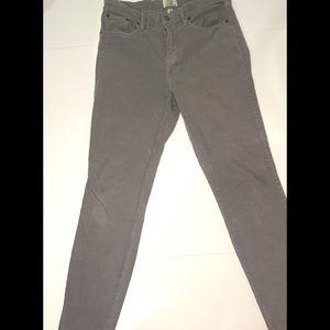 J Crew Gray Lookout High Rise Skinny pants